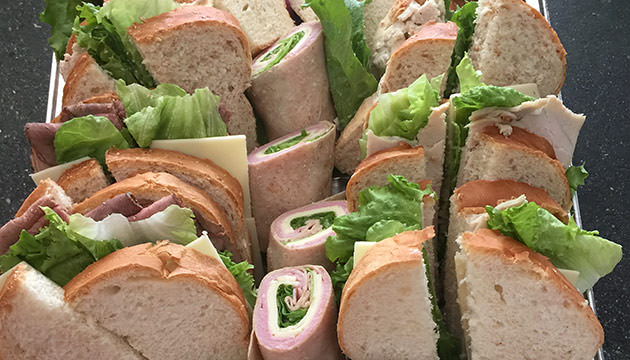 Photo of catered sandwiches from Meadowbrook Orchards