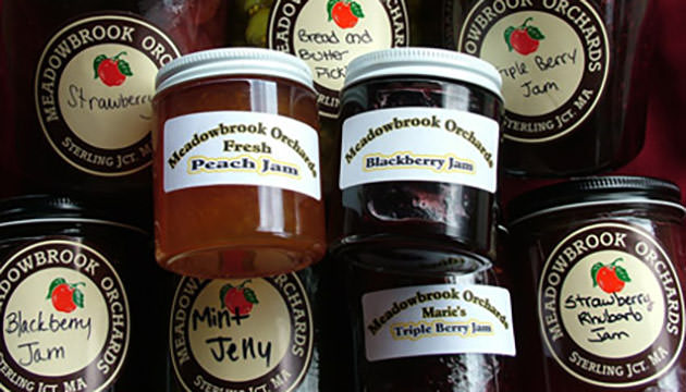 Photo of homemade jams at Meadowbrook Orchards