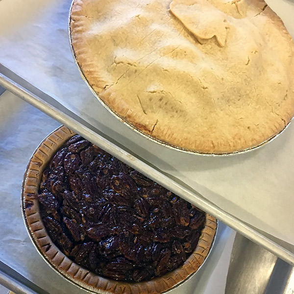 Photo of gluten-free pies from Annie's Gluten-Free Bakery